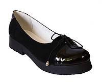 Туфли мокасины на толстой подошве из натуральной кожи и замша