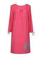 Платье батал прямого кроя Букет