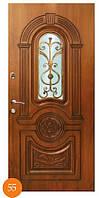 Двери металлические входныеТермопласт™ стекло узор Модель 55