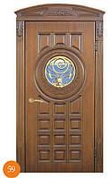 Стальные двери + стеклопакет и ковка Термопласт™ Модель 59