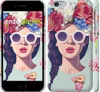 "Чехол на iPhone 6s Девушка с цветами ""2812c-90"""