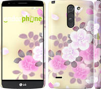 "Чехол на LG G3 Stylus D690 Японские цветы ""2240c-89"""