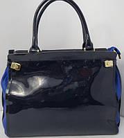 Кожаная синяя сумка из коллекции  Vensi