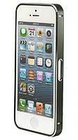 Чехол бампер Metalic Slim iPhone 5 серебристый