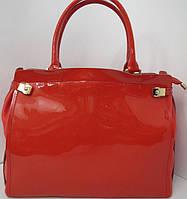 Кожаная красная сумка из коллекции  Vensi