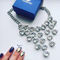 Колье женское Chloe серебро , вечерние украшения