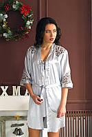 Красивый комплект женский комбинация с халатом