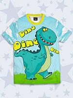 Прикольная детская футболка Dino