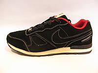 Кроссовки мужские  Nike  черные, замшевые (найк)р.41,42,43,44,45