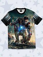 Футболка Iron man 3 с классным фотопринтом.