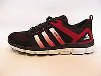 Кроссовки мужские  Adidas Clima Cool  текстиль, черные с красным (адидас клима кул)р.42,43
