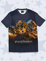 Классная детская 3D-футболка Transformers с модным рисунком.