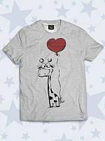 Модная детская футболка Жирафик с 3D принтом.