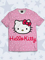 Милая детская футболка Котёнок Китти с популярным принтом.