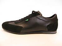 Кроссовки мужские Lacoste кожаные,  черные (лакоста)р.45