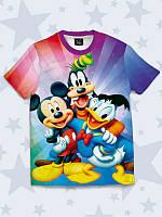 Замечательная детская футболка Мультяшная команда с прикольным принтом.
