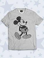 Стильная детская футболка Притопывающий Микки с милым рисунком.