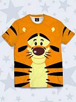 Милая детская футболка Тигра с классным 3D-рисунком