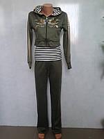 Трикотажный  женский молодежный спортивный костюм .р.42-48.Турция.