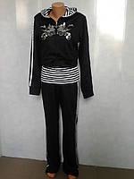 Трикотажный  молодежный спортивный  женский костюм .р.42-48.