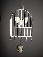 Вешалка настенная в форме клетки для птиц