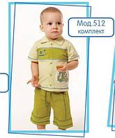 Комплект для мальчиков, шортики с футболкой