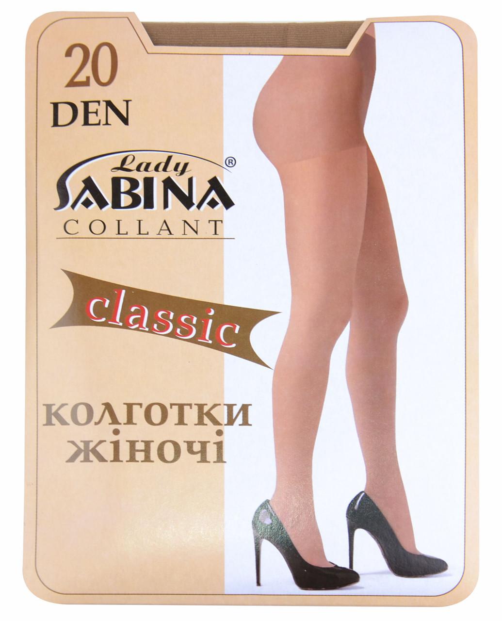 Колготки Lady Sabina 20 den Classic Nero р.6 (Арт. LS20Cl)