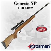 Crosman Genesis NP магнум-винтовка с газовой пружиной и оптикой 4x32