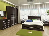 Спальня Соломия - кровать, тумбы, комод, шкаф-купе