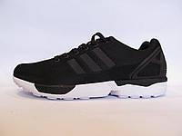 Кроссовки мужские  ADIDAS ZX FLUX текстиль, черные оригинал (адидас флюкс)р.42,43