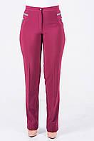 Женские прямые брюки Глория, вишневого цвета.