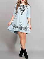 """Женское нарядное платье """"Джейн блюз"""", размеры с 44 по 54"""