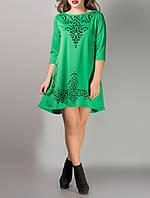 """Трикотажное платье с рукавами до локтей """"Джейн грин"""", размеры с 44 по 54"""