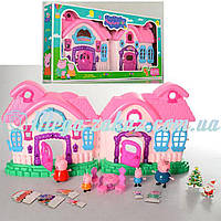Игровой домик Свинка Пеппа/Peppa Pig: 4 фигурки + мебель + свет/звук