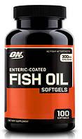 Рыбий жир Омега 3 6 9, Omega 3 6 9 Optimum Nutrition Enteric coated fish oil softgels 100 капс