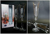 Свадебные бокалы прозрачные  без декора
