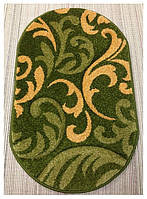 Коврик для ванной Firuze, фризе, акрил, зеленый