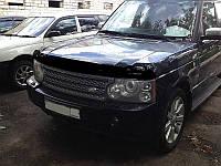 Дефлектор капота (мухобойка) LAND ROVER Range Rover 02-12, темный