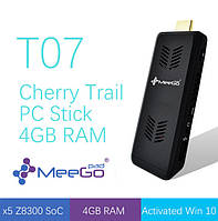 "MeeGoPad T07 - компактный мини ПК, 4Gb ОЗУ, Intel Atom ""Cherry Trail"" x5-Z8300, OC Windows 10 64bit"