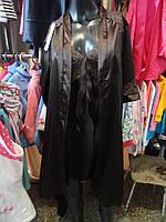 Атласные комплекты (ночная сорочка+халат) коричн.