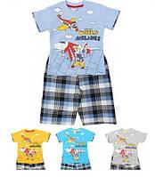 Летний костюмчик на мальчика (самолеты) 2-4 лет