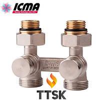 Двухтрубный сдвоенный вентиль радиаторный ICMA  (арт. 897)