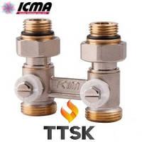 Двухтрубный сдвоенный вентиль радиаторный ICMA (арт. 912)