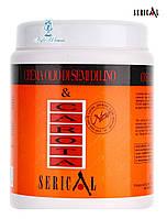 Крем-маска с экстрактом моркови и маслом из льняного семени Pettenon Serical 1000мл для жирных волос