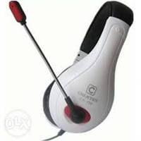 Наушники накладные проводные с микрофоном Chenyun CY-726 White Подключение через USB кабель