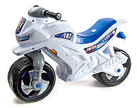 Мотоцикл 2х колесный 501 Белый Полиция со шлемом