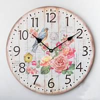 """Часы для декора интерьера """"Синичка в цветах"""", 35 см"""