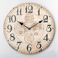 """Стильные часы на стену """"Карта мира"""", 35 см"""