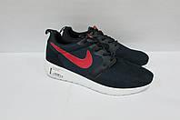 Кроссовки женские Nike синие с красным (7172-4)  код 0176 А