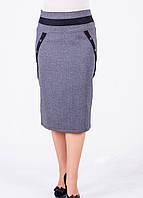 Серая деловая женская юбка Франческа-2